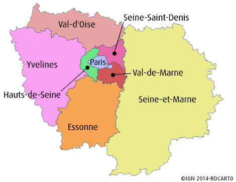 Ile de France département
